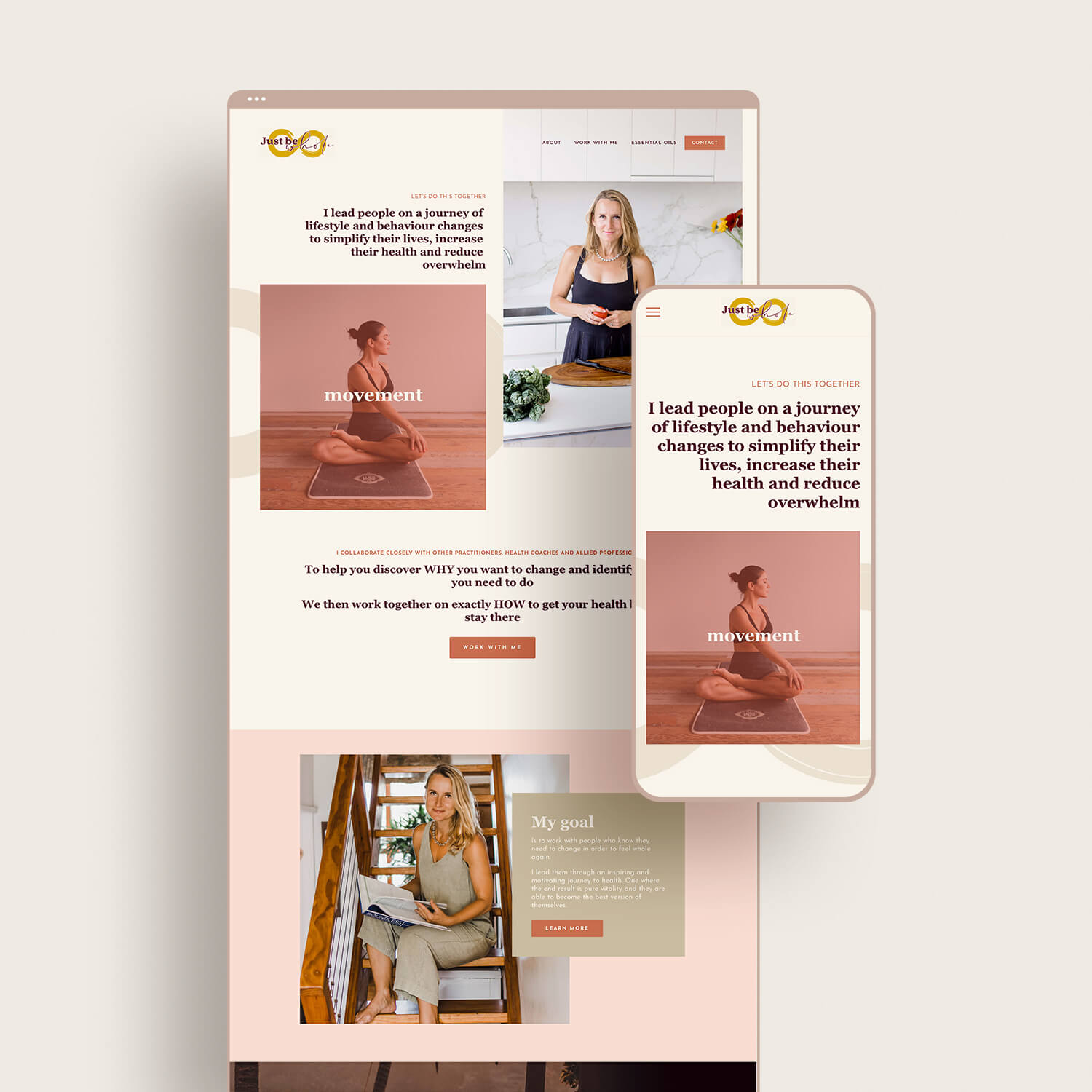 Just Be Whole Website Design