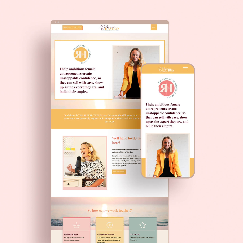 Rebecca Haydon Website Design
